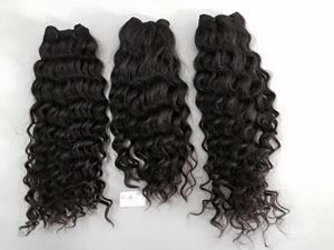Picture of SINGLE DRAWN HUMAN HAIR MACHINE WEFT CURLY 60CM (24INCH)