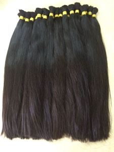 imagem de DOUBLE DRAWN STRAIGHT HAIR IN BULK 60CM( 24 INCH)